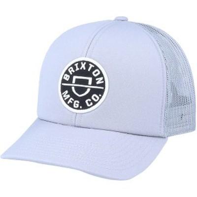 ブリクストン メンズ 帽子 アクセサリー Crest X MP Mesh Cap Grey