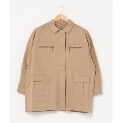 UP START / 綿ツイルミリタリージャケット WOMEN ジャケット/アウター > ミリタリージャケット