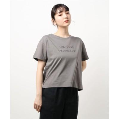 tシャツ Tシャツ 【洗える】ロゴTEE(ショート丈)