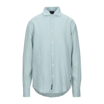 アルマーニ ジーンズ ARMANI JEANS シャツ ライトグリーン XL 麻 100% シャツ