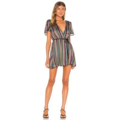 ハウスオブハーロウ1960 House of Harlow 1960 レディース ワンピース ワンピース・ドレス x REVOLVE Annika Dress Black Multi Stripe