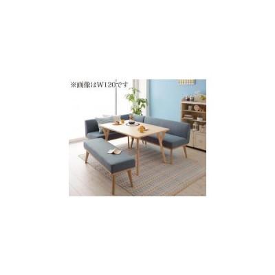 北欧デザインリビングダイニングセット Manee マニー 4点セット(テーブル+ソファ1脚+アームソファ1脚+ベンチ1脚) 左アーム W140
