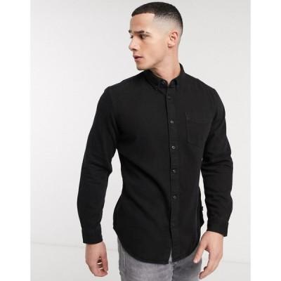 エスプリ Esprit メンズ シャツ デニム トップス denim shirt in black wash ブラック