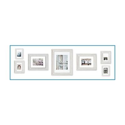 新品Gallery Perfect 7ピース アンティーク調 ホワイトフォトギャラリー 壁装飾アートプリント&ハンギング