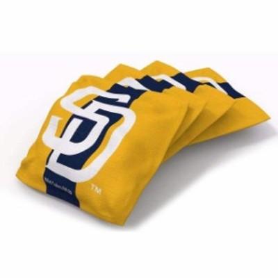 Wild Sales ワイルド セールス スポーツ用品  San Diego Padres 4-Pack Striped Alternate Cornhole Bean Bags Set