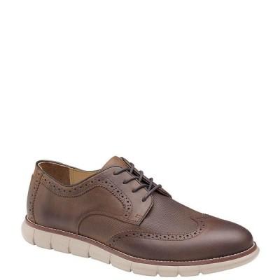 ジョンストンアンドマーフィー メンズ スニーカー シューズ Men's Holden Embossed Wingtip Casual Shoes Brown