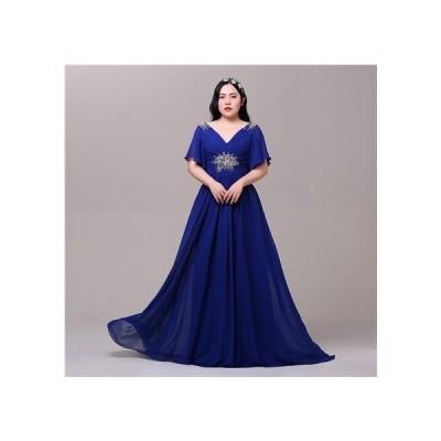 ロングドレス パーティードレス ワンピースお呼ばれ 大きいサイズ 編み上げタイプドレス 二次会 披露宴 結婚式ドレス オーダーメイド da911f0f0y5