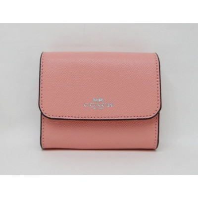 COACH コーチ F54843 レザー 二つ折り財布 コインケース ピンク<未使用品>【送料無料】