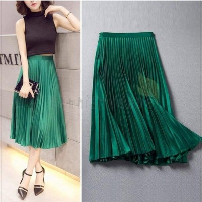 スカート レディース ロング丈スカート 2色  プリーツスカート ファッション エレガント 可愛い 着やせ 春 夏 新作