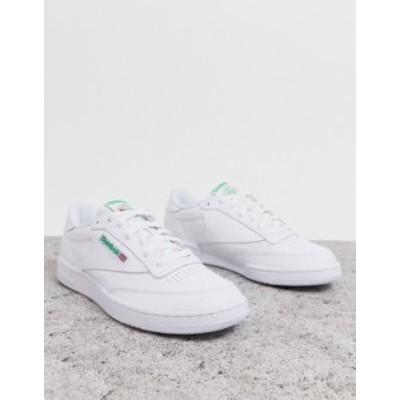 リーボック メンズ スニーカー シューズ Reebok Club c 85 sneakers in white ar0456 White