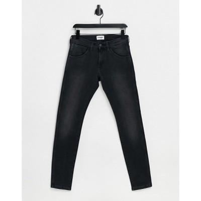 ラングラー メンズ デニムパンツ ボトムス Wrangler Bryson Skinny Fit Jeans Black