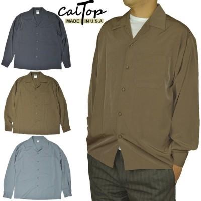 キャルトップ CalTop オープンカラーシャツ 長袖シャツ ロングスリーブシャツ
