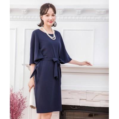 【ドレス スター】 2wayスリーブパーティードレス レディース ネイビー Lサイズ DRESS STAR