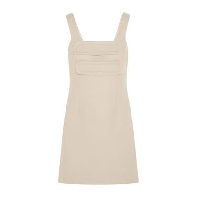UNIQUE ミニワンピース&ドレス ベージュ 12 ウール 78% / ナイロン 22% ミニワンピース&ドレス