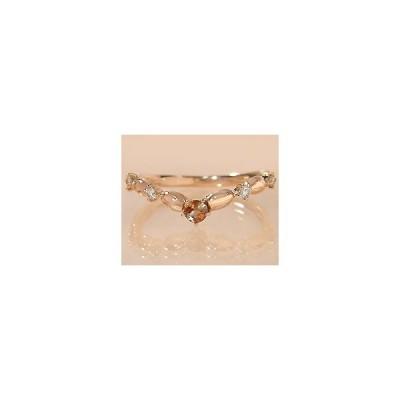 K18 アンダルサイト ダイヤモンド リング (サイズ1号〜20号) 4月誕生石 アクセサリー 指輪