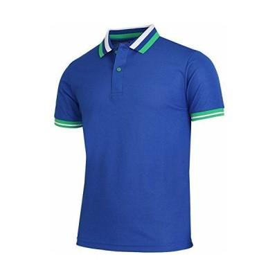 BCPOLOメンズポロシャツ半袖Driのフィット機能襟、袖ポイントポロシャツ Cobalt S