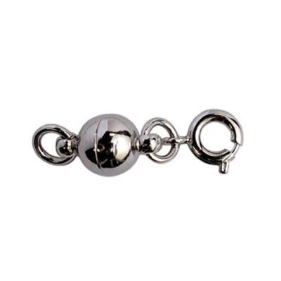 ネコポスOK マグネット留め具 シルバー 単品販売 つけにくいネックレスのイライラを解消 マグネットパーツ エンドパーツ 磁石金具