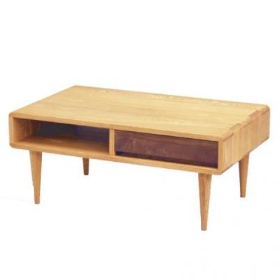 木製 おしゃれ 北欧 リビングテーブル 85 エディンバラ ライト