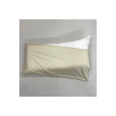 泉大津市 ふるさと納税 ロングサイズ ストレート枕+枕カバー アイボリー2枚付