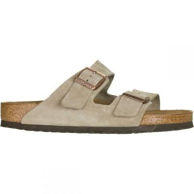 ビルケンシュトック Birkenstock メンズ サンダル シューズ・靴 Arizona Soft Footbed Suede Sandal Taupe Suede