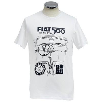 フィアット純正 Nuova 500Tシャツ(ホワイト)