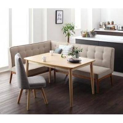 ダイニングテーブルセット 5人用 コーナーソファー L字 l型 ファミレス風 ベンチ 椅子 おしゃれ 安い 北欧 食卓 カウチ 4点 ( 机+チェア1
