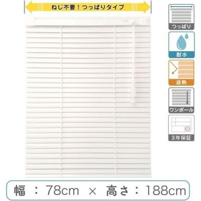 1cm単位 プロ仕様「つっぱりブラインド」幅78cm×高188cm 遮熱・耐水  ctb835T-78x188r68 1セット トーソー(直送品)