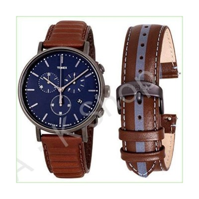 Timex Fairfield Quartz Movement Blue Dial Men's Watch TWG016800--並行輸入品--