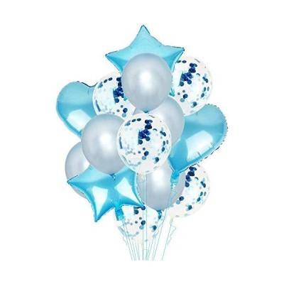 GRESATEK バルーン 風船セット 飾り付け 星風船 ハート風船 きらきら紙吹雪風船 飾り 装飾 誕生日 バースデー パーティー 結婚式 サプライ