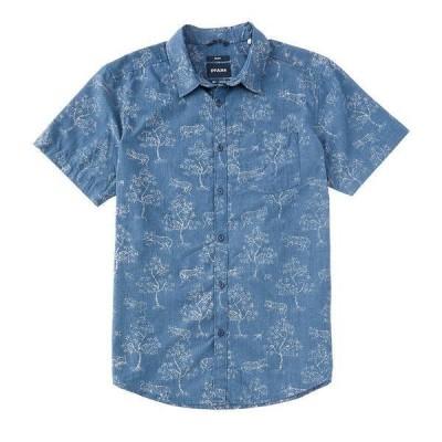 プラーナ メンズ シャツ トップス Prana Slim-Fit Roots Studio Short-Sleeve Organic Materials Woven Shirt Antique