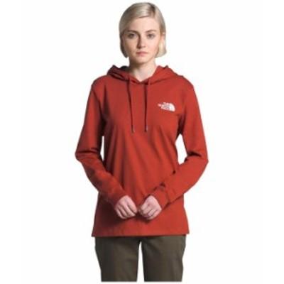 ノースフェイス レディース パーカー・スウェット アウター Peaceful Explorer Heavyweight Pullover Hoodie Ketchup Red