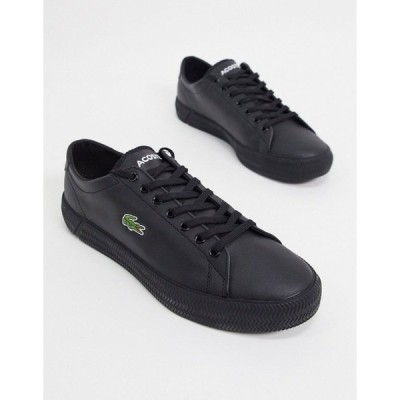 ラコステ メンズ スニーカー シューズ Lacoste gripshot sneakers in black leather Black
