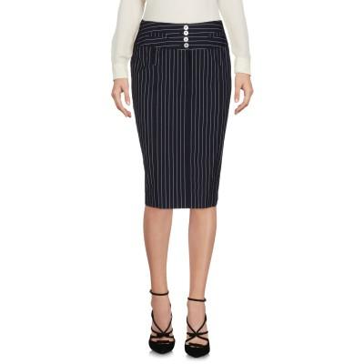 METRADAMO ひざ丈スカート ダークブルー 46 コットン 98% / ポリウレタン 2% ひざ丈スカート