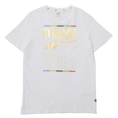【PUMA】 プーマ M REBEL 5 CONTINENTS Tシャツ レベル 5 コンテンツ ティーシャツ 585299 02ホワイト S