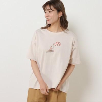 選べる柄展開オーガニックコットンプリントワイドTシャツ