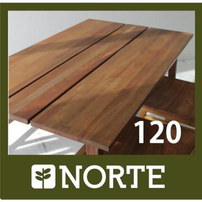 北欧家具 ダイニングテーブル 無垢材 どんな空間にも美しくおさまるマホガニーテーブル NRT-120T-MH/121799