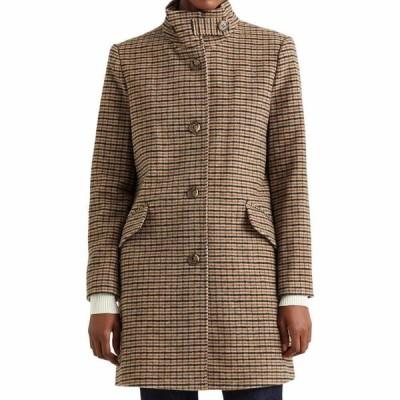 ラルフ ローレン LAUREN RALPH LAUREN レディース コート アウター Wool Blend Balmacaan Coat Grid Houndstooth