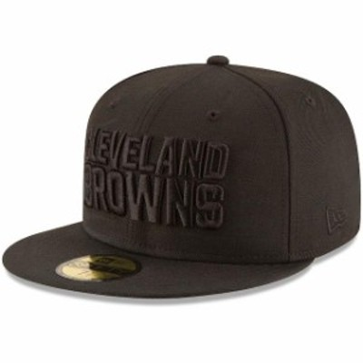 New Era ニュー エラ スポーツ用品  New Era Cleveland Browns Black on Black 59FIFTY Fitted Hat
