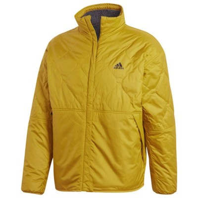 アディダス メンズ adidas Reversible Padded Sherpa Jacket ジャケット リバーシブル Dark Grey/Gold
