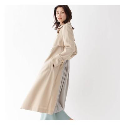 【AG バイアクアガール/AG by aquagirl】 バックギャザーサテントレンチコート