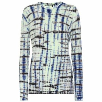 プロエンザ スクーラー Proenza Schouler レディース トップス Tie-dye cotton jersey top Lime/Cobalt