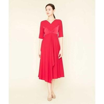 Sybilla / シビラ ドレープパターンロングドレス