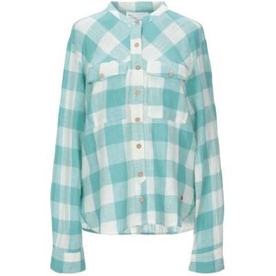 LEON & HARPER シャツ ターコイズブルー M コットン 90% / 麻 10% シャツ