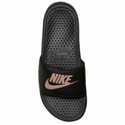 NIKE ナイキ サンダル ベナッシ スライド ブラック ローズゴールド Nike Benassi JDI Slide Black Rose Gold 送料無料【敬老の日】