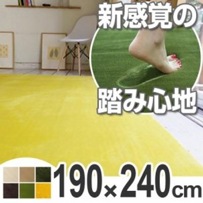 ラグ カーペット 低反発高反発フランネルラグマット 190x240cm ( 送料無料 ラグマット センターラグ 絨毯 じゅうたん 床暖房対応