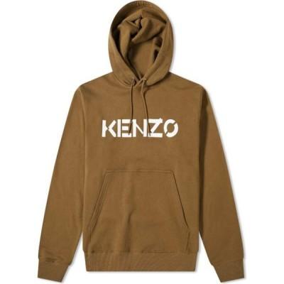ケンゾー Kenzo メンズ パーカー トップス Bi-Colour Logo Popover Hoody Khaki
