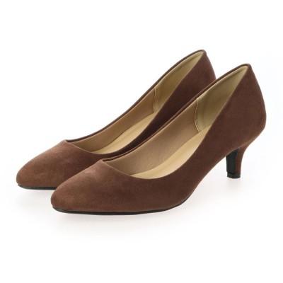 ジーラ GeeRA 【美ラク】走れる疲れにくい美脚パンプス (ブラウン)