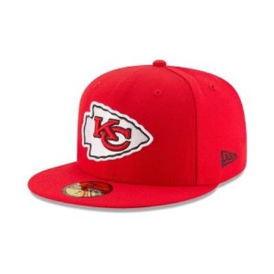 ニューエラ メンズ 帽子 アクセサリー Kansas City Chiefs Team Basic 59FIFTY Fitted Cap Red/Red