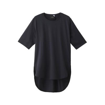 ATON エイトン SUVIN 60/2 ラウンドヘムTシャツ レディース ネイビー 1