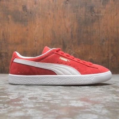 ユニセックス スニーカー シューズ Puma Men Suede VTG Vintage (red / white)